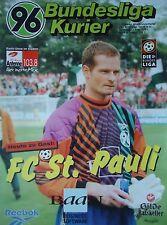 Programm 1998/99 Hannover 96 - FC St. Pauli