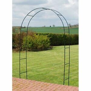 Metal Garden Arch Heavy Duty Strong Tubular Rose Climbing Plants Archway