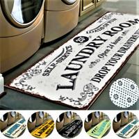 Letter Printed Entrance Doormat Non Slip Kitchen Bathroom Rug Laundry Floor Mat!