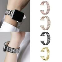 For Iphone 3 Watch Strap Wrist Band Stainless Steel Crystal Classic Fashion