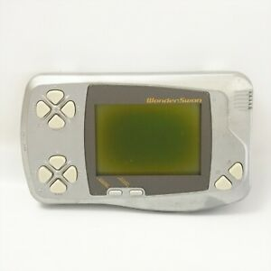 JUNK WONDER SWAN Console Silver Metalic SW-001 Not working 2035 Bandai ws