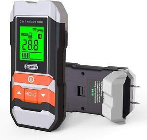 Upgrade Wood Moisture Meter Dr.meter 2 in 1 Pin & Pinless Multifunctional Tester