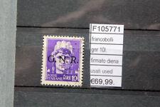 FRANCOBOLLI ITALIA GNR 10L. FIRMATO DIENA USATI STAMPS ITALY USED (F105771)