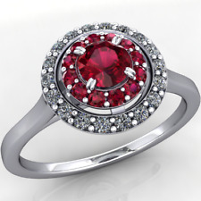 Anello oro 18Kt gr. 2,90 con Rubini e Diamanti taglio Brillante F/VS1 ct. 0,43