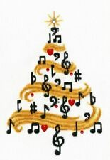 16ct Cross Stitch Kit - Golden Fleece - Do Re Mi Christmas Tree - 20.8 x 13.8cm
