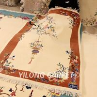 YILONG 4'x6' Living Room Hand Craft Wool Carpet Art Deco Hand Knotted Rugs
