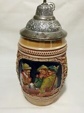 Vintage Beer Stein with lid Made in Gerz West Germany H17cm numbered