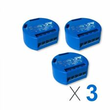 LOT of 3 SHELLY 1, Smart Home Device, 3-pack Relay Switch 16A, Wi-Fi
