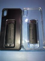 Lot Of 2pc Scooch Wingman Case Clear & Black  Case For APple iPhone XS