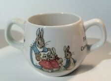 PETER RABBIT WEDGWOOD Of ETRURIA TWO HANDLE CUP MADE IN ENGLAND, EXCELLENT COND.