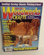 WOODWORKS Creative Woodworking Magazine Nov 1998 Scroll Saw Intarsia Patterns