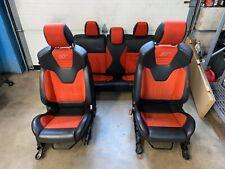 Ford Fiesta ST Racing Molten Orange Recaro Leather Bucket Seats Interior Set OEM