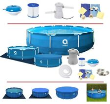16in1 Best SWIMMING POOL 305cm 10FT Garden Round Frame Ground Pool + PUMP SET