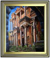 Framed Quality Hand Painted Oil Painting Ancient Rome Building 20x24in