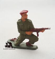 Figurine Vintage soldat Starlux Bérét Rouge Para Parachutiste au feu figure