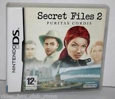 SECRET FILE 2 PURITAS CORDIS GIOCO USATO OTTIMO STATO DS & 3DS ED ITALIANA FR1