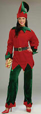 DELUXE ADULT UNISEX SANTA'S HELPER ELF CHRISTMAS HOLIDAY COSTUME STD. SIZE