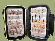 Daddy Long Legs Trout Flies, 32 Mixed Colours and Size, Boxed - For Fly Fishing
