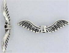 Angel Wing Beads 7mm x 26mm x 3mm Antiqued Pewter (10) Lead - Safe