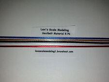 Seatbelt Material 5 Color Pack 1/24 & 1/25 Models