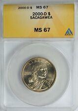2000-D SACAGAWEA GOLDEN DOLLAR $1 ANACS MS67