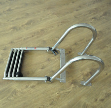 Stainless Steel Inboard Rail Boat 4 Step Telescoping Ladder Dock Ladder