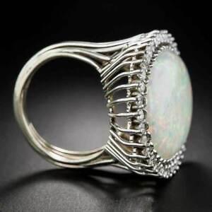 Fine 925 Silver Rings Women Jewelry Oval Cut Fire Opal Wedding Ring Size 6-10