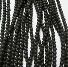 Natural Lava Rock Beads 4-14mm Round Black Stone Size DIY For Jewelry Making