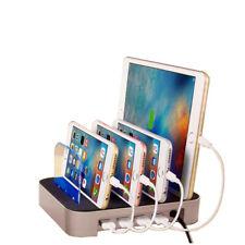 Stazione di ricarica usb multipla 4 porte caricabatterie per smartphone tablet