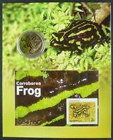 Australien Australia 2014 Frosch Frog Block + Münze im Folder MNH Auflage 150
