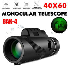 40X60 Zoom Optical 40X HD Lens Monocular Telescope + Tripod +Clip for Cell Phone