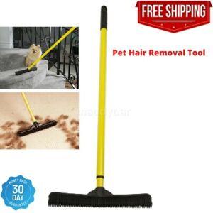 Sweepa Rubber Broom Evriholder FURemover Cat Dog Pet Hair Dust Carpet Rake New