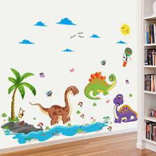 Dinosaur Family Wall Decal Nursery Room Kindergarten Decor DIY Cartoon Sticker