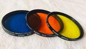 Nikon Black and White Filters 62 mm set 3 pcs