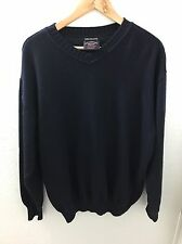 Mens PAUL & SHARK Yachting Bretagne V-Neck Sweater Pullover XL Blue