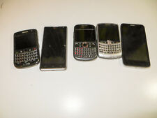 NICE LOT OF 5 SMARTPHONES CELL PHONES PARTS ONLY LG ALCATEL HUAWEI BLACKBERRY