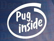 Pug dentro Novedad car/van/window / calcomanía-ideal para los propietarios de perros