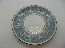"""Wedgwood FLORENTINE TURQUOISE (NO CENTER, WHITE) Cream Soup Saucer Plate 6 1/2"""""""