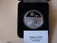 Australia .  2011  $1 Kangaroo at Sunset - F15 Privy  1oz Silver - Proof - Cased