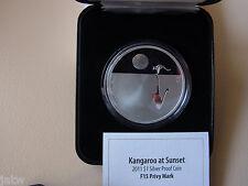 Australia   2011  $1 Kangaroo at Sunset - F15 Privy  1oz Silver - Proof - Cased