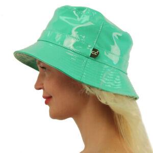 C.C Rain Waterproof Bucket Boonie Bush Fisherman Hiking Wide Brim Cap Hat Mint