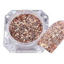 Rose Gold Nail Art Glitter Chrome Powder Dust UV Gel Tips Decoration for Women