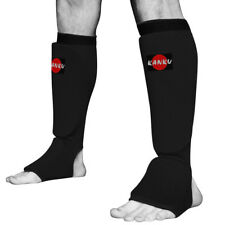 KANKU New Karate, MMA Shin instep Protector Elastic Cloth Pad Sparring Gear