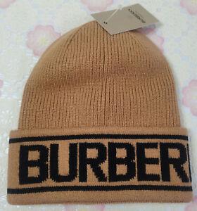 Burberry Men Women Packable Beanie Hat Casual Cap Brown