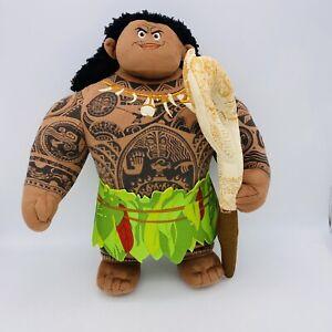 "Disney Just Play TALKING MAUI 14"" Plush Stuffed Doll Moana Read Desc"