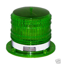 S8LFM 2NM GREEN IP67 SOLAR LED FLASHING Marine Dock Barge Safety Beacon Light