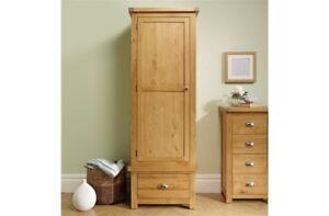 Simplistic Practical Rustic 1 Door 1 Drawer Wardrobe Suitable For Wide Range