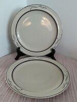 "Vintage Set of 2 Symmetry VI  Epoch Medeci  171  Dinner Plates  10 1/4"" , Korea"