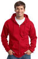 Port & Company Men's Coverseamed Neck Full Zip Casual Hooded Sweatshirt. PC78ZH