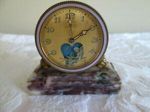 1900's Le Petit Forgeron Antique Mechanical Animated Desk Clock Angel Hammers